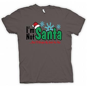 Mens T-shirt - Im Not Santa But I'll Empty My Sack For You - Funny