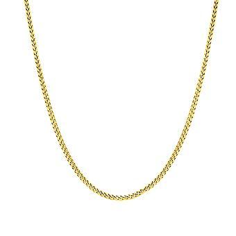 14 k Keltainen Solid Gold Franco ketjun kaulakoru, 1,8 mm