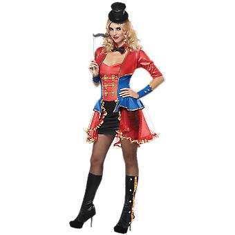 Womens Ringmaster Circus Carnival Fancy Dress Costume