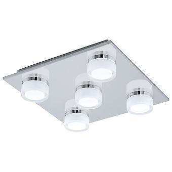 Eglo - Giuliana 5 luce LED bagno a filo soffitto montaggio In EG94654 finitura cromo lucido