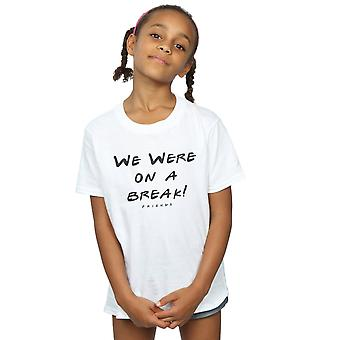 Freunde Mädchen waren wir auf einem Bruch Text T-Shirt