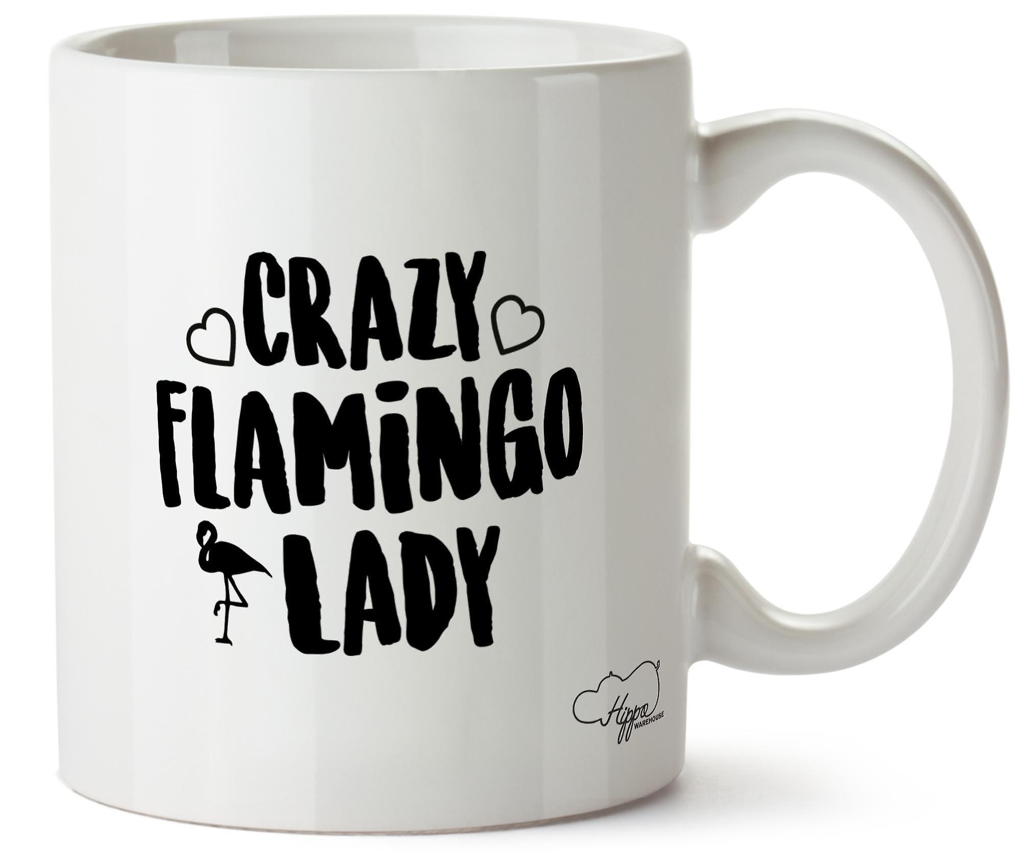 Hippowarehouse Crazy Flamingo Lady Printed Mug Cup Ceramic 10oz