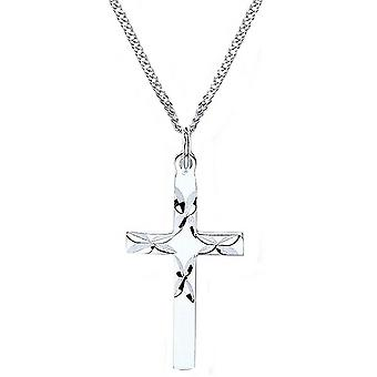 Bella D Cut Cross Pendant - Silver