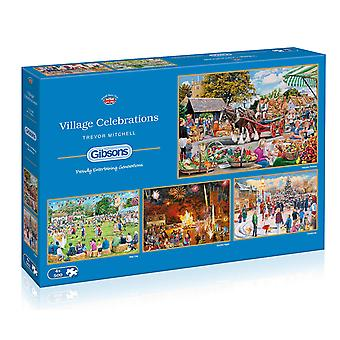 Gibsons byn firandet pussel (4 x 500 bit)