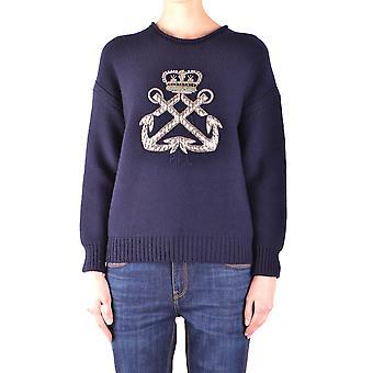 Ralph Lauren Ezbc037085 Kvinder's Blue Wool Sweater