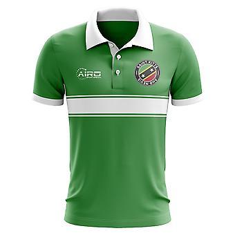 St. Kitts und Nevis Konzept Stripe Polo-Shirt (grün)