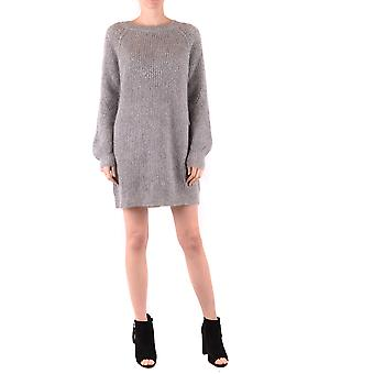 Twin-set Ezbc060167 Women's Grey Wool Dress