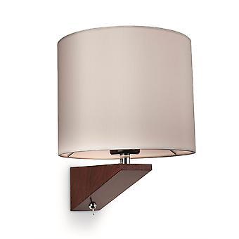 Firstlight-1 lys indendørs væglys (Switched) mørk valnød, creme skygge-7655WA
