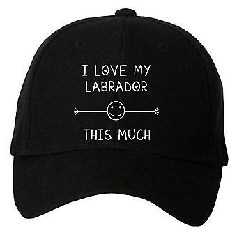 أنا أحب بلدي لابرادور هذا القدر قبعة البيسبول السوداء