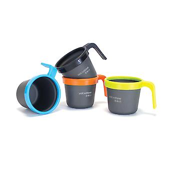 Yellowstone Camping Stacking Cups Graphite 4 Pack