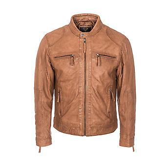 Men's Perforated Biker Jacket