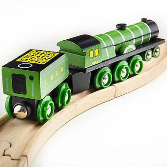 Bigjigs Rail Wooden Heritage Collection Flying Scotsman Train Play Set Railway