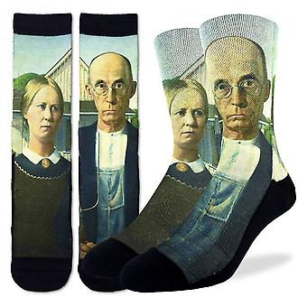 Good Luck Sock - Men's Active Fit - American Gothic (8-13) 4123