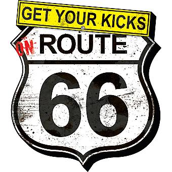 Magnet - Get Your Kicks Route 66 - Grunge Funky Chunky New Licensed 95460