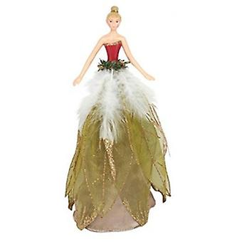 Gisela Graham Seven Swans Gold Christmas Fairy Tree Topper | Gifts From Handpicked