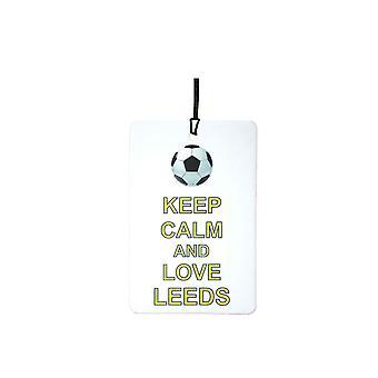 Zachowaj spokój i miłość Leeds samochodowa zawieszka zapachowa