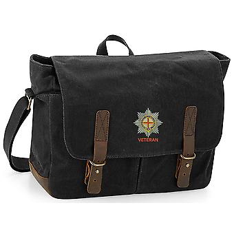 Coldstream Guards Veteran - Licensed British Army Ricamato Waxed Canvas Messenger Bag