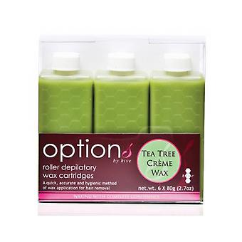 Hive Of Beauty Waxing Tea Tree Creme Wax Roller Cartridge Hair Removal 80g 6 Pk