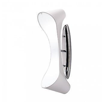 Mantra Ora vägglampa 2 ljus E27, glans vit/vit akryl/polerad krom