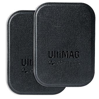 placas de metal universal de 4smarts UltiMAG 2 x titular do falso couro preto, etc.