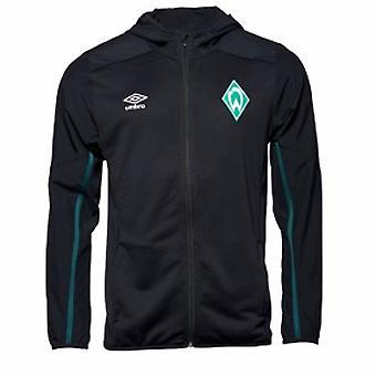 2019-2020 Werder Bremen Umbro Hooded Jacket (Black)