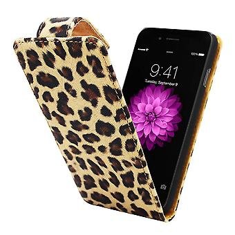 iPhone 6 Flipcover Hoesje Luipaard Print - Business Color Case