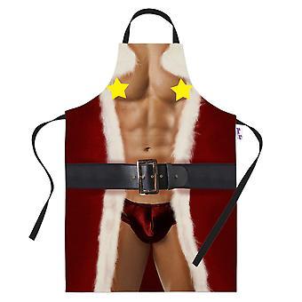 Engraçado nua cozimento avental sexy Santa engraçado Natal cozinhar presente