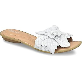 Born Womens - Mai Floral,White Embossed Full Grain Leather,9 B(M) US