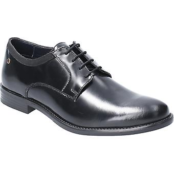 Base London Mens Nero Hi Shine Lace Up Leather Oxford Shoes