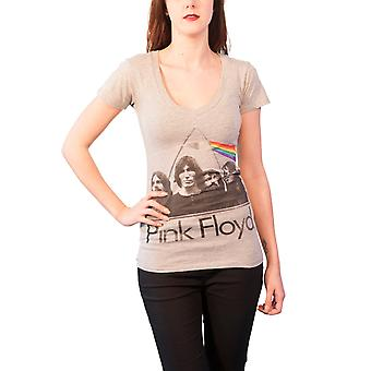 Pink Floyd T Shirt Dark side of the Moon Official Womens Skinny Fit V neck