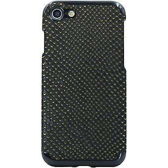 Candywirez Vegan lederen draagtas voor Apple iPhone 6/6S/7/8 (krokodil zwart a
