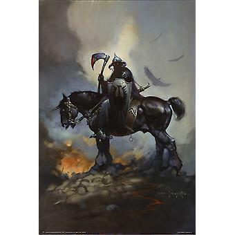 Poster - Studio B - Death Dealer (On Horse) - Frank Frazetta 36x24