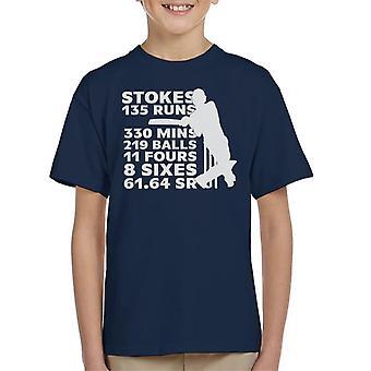 Cricket Engeland ben Stokes 2019 Australië stats Kid ' s T-shirt