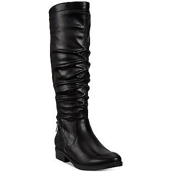 Goale capcane femei Yulissa2 inchis Toe Mid-vițel cizme de moda