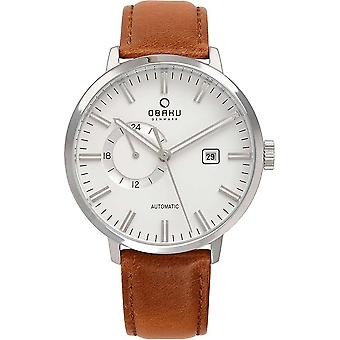 Obaku Utrolig Cognac Homme-apos;s Wristwatch V210GTCIRZ