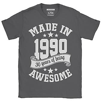 Made in 1990 30 years of being awesome 30th birthday t shirt 2020 thirtieth