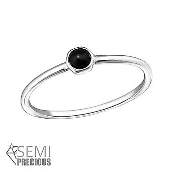 Round - 925 Sterling Silver Jewelled Rings - W31459X