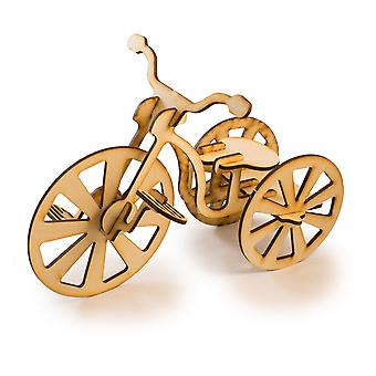 Crafts - tricycle - model kit raw wood