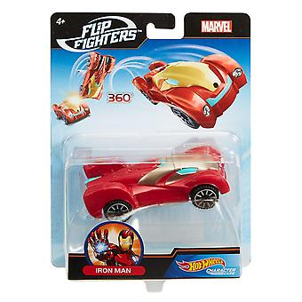 Hot Wheels Marvel Flip Fighters Iron Man Avengers Krockbil Leksaksbil 11cm