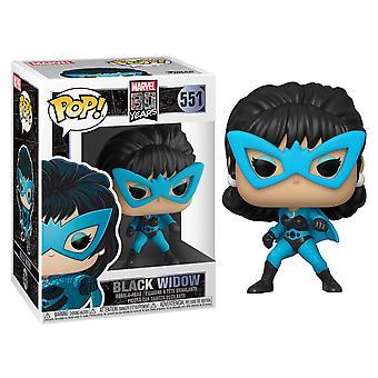 Musta Widow Marvel 80th ensimmäinen ulkonäkö Funko Pop bobblehead