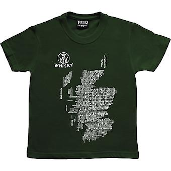 Skotsk whisky typografi kort racing grønne børn ' T-shirt