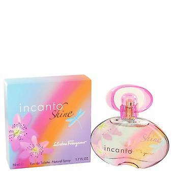 Incanto Shine Eau De Toilette Spray By Salvatore Ferragamo   447583 50 ml