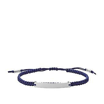 Fossil armbånd JF03127040-VINTAGE CASUAL stof blå stål sølv mænd