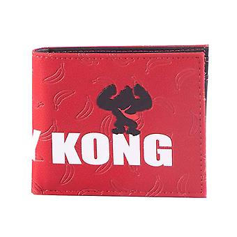 Donkey Kong Wallet Bananas All over Print new Official Nintendo Bifold Red