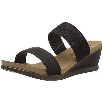 Bearpaw Womens Noelle Leather Open Toe Casual Platform Sandals