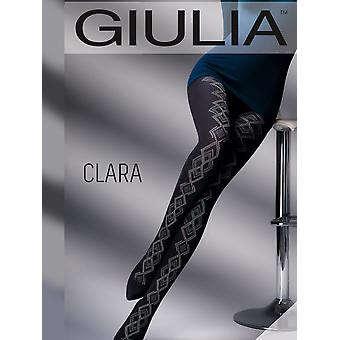 Giulia Clara Cotton Patterned Tights - Hosiery Outlet