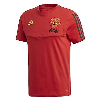 2019-2020 Man Utd Adidas training Tee (rood)
