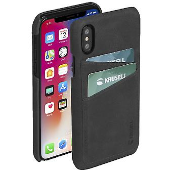 Krusell Sunne leather cover cover for Apple iPhone X / XS 5.8 leather protective case cover black