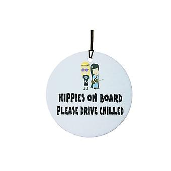 Hippies On Board Car Air Freshener