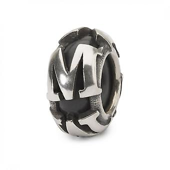 Trollbeads Letter M Silver Spacer